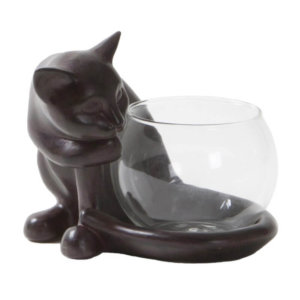 Tea light holder Cat